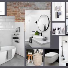 Moodboard industriële badkamer: industriële Badkamer door Studio Room by Room