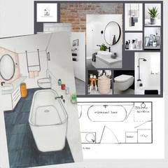 Design plan industriële badkamer: industriële Badkamer door Studio Room by Room