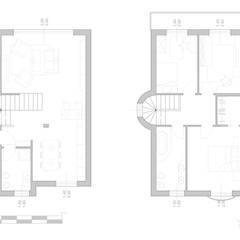 Pianta arredi: Scale in stile  di LAB+ARCS