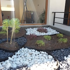 Rock Garden by Deck and Garden