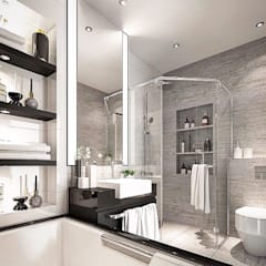 Bathroom by Lighthouse Architect Indonesia