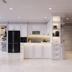 THIẾT KẾ NỘI THẤT CĂN HỘ CHUNG CƯ CAO CẤP - PHONG CÁCH TÂN CỔ ĐIỂN:  Nhà bếp by ICON INTERIOR