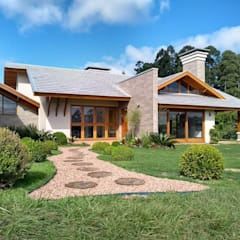 Country house by Kauer Arquitetura e Design