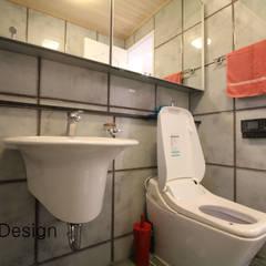 경남 하북면 예술인촌 전원주택: 에스디자인의  욕실