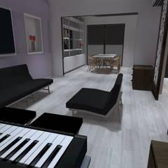 vista living: Livings de estilo  por ATELIER3