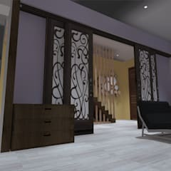 hall: Pasillos y hall de entrada de estilo  por ATELIER3