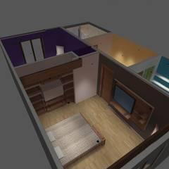 dormitorio: Dormitorios de estilo minimalista por ATELIER3