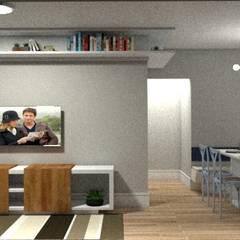 Sala estar/ tv e Jantar: Salas de jantar ecléticas por LVM Arquitetura