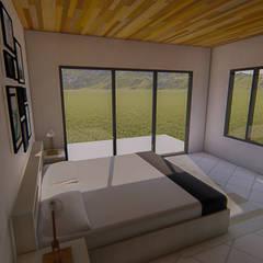 Vista de dormitorio principal: Dormitorios de estilo  por Tila Design