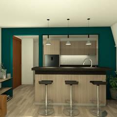 Proyecto de Diseño interior - Contemporaneo: Cocinas equipadas de estilo  por MM Design