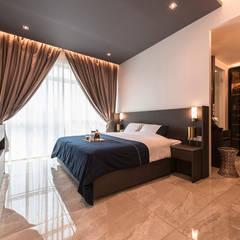 Design & Build: Melrose Condominium:  Bedroom by erstudio Pte Ltd,