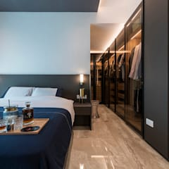 Design & Build: Melrose Condominium:  Bedroom by erstudio Pte Ltd