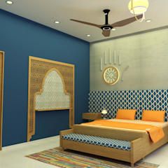 INTERIOR  7 BHK :  Bedroom by PAHENJO
