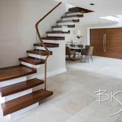 6034 - Walnut Semi Cantilever:  Stairs by Bisca Staircases