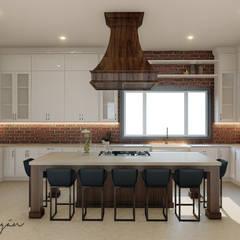 Cocinas de estilo  por Cynthia Barragán Arquitecta,