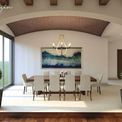 Rustic style dining room by Cynthia Barragán Arquitecta Rustic