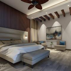: Recámaras de estilo  por Cynthia Barragán Arquitecta, Moderno