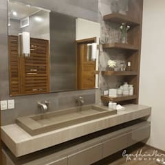 : Baños de estilo  por Cynthia Barragán Arquitecta,