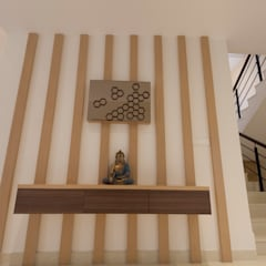 Residence No.1 at Panache, chennai:  Corridor & hallway by Synergy Architecture and Interiors,