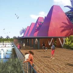 Muelle / Cocodrilario: Terrazas de estilo  por Taller Arquitectura Objetiva