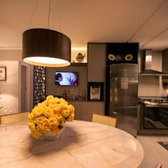 Casa de Campo Gravatá: Salas de jantar  por Marilia Wanderley Arquitetura