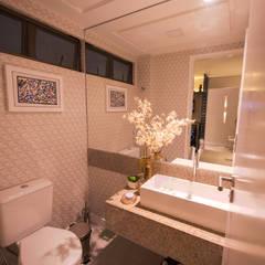 Casa de Campo Gravatá: Banheiros  por Marilia Wanderley Arquitetura