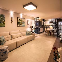 Casa de Campo Gravatá: Salas de estar  por Marilia Wanderley Arquitetura