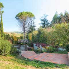 Jardines en la fachada de estilo  por AplusP  Architettura e Paesaggio