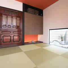 癒せる2階建て住宅: Style Createが手掛けた和室です。,モダン