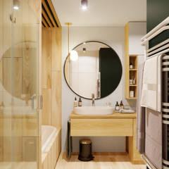 Квартира 79м2 в японо-скандинавском стиле : Ванные комнаты в . Автор – Lines