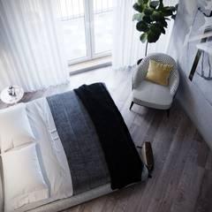 Квартира 101м2 в современном стиле : Спальни в . Автор – Lines