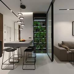 Дизайн-проект квартиры в современном скандинавском стиле , площадью 72 кв.м. Москва, ул. Лесная, д. 4: Гостиная в . Автор – 'INTSTYLE'