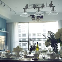 mediterranean Dining room by 文儀室內裝修設計有限公司