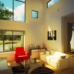 Casa Gral.Cruz: Livings de estilo  por Lau Arquitectos,