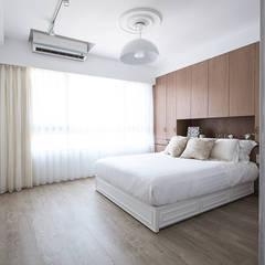 極簡法式絮語  :  臥室 by 文儀室內裝修設計有限公司