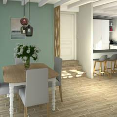 Une rénovation tout en douceur: Salle à manger de style de style eclectique par MJ Intérieurs