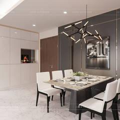 THIẾT KẾ CĂN HỘ VỚI NỘI THẤT PHONG CÁCH CHÂU ÂU - Sarica Condominium Sala:  Phòng ăn by ICON INTERIOR