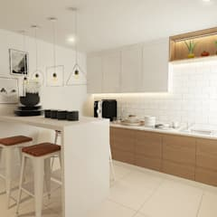 Aurora :  Kitchen by Verde Design Lab