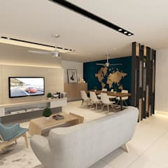 Living Area : modern Living room by Verde Design Lab