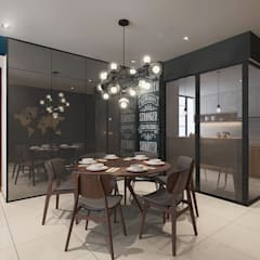 Dining Area :  Dining room by Verde Design Lab