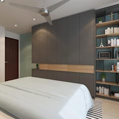 Master Bedroom:  Bedroom by Verde Design Lab