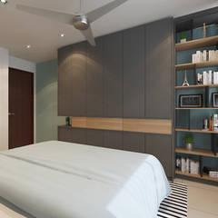 Villa Crystal I:  Bedroom by Verde Design Lab