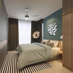 Master Bedroom :  Bedroom by Verde Design Lab