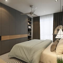 Villa Crystal I:  Bedroom by Verde Design Lab ,