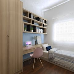 Study Room :  Study/office by Verde Design Lab