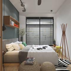 Legend Height:  Bedroom by Verde Design Lab ,