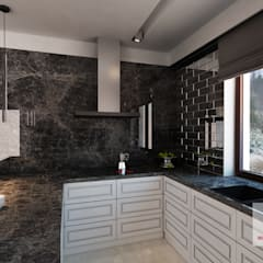 Projekt wnętrza domu w stylu nowojorskim: styl , w kategorii Kuchnia na wymiar zaprojektowany przez MIRAGE STUDIO Sebastian Rzymski