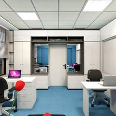 Офис для пресс-конференции: Офисные помещения в . Автор – Мастерская дизайна интерьера ILHOM