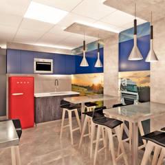 Remodelacion oficinas SCANIA: Oficinas y Comercios de estilo  por NEF Arq.