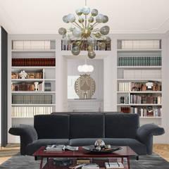 ห้องนั่งเล่น by architetto stefano ghiretti